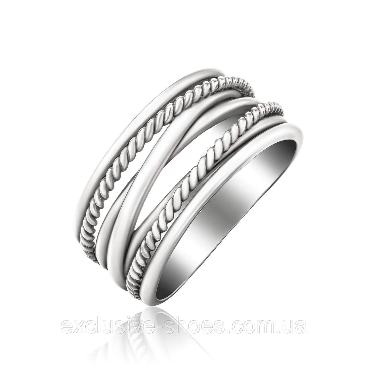 Серебряное кольцо без вставок, Avangard, 910152