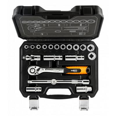 """Набор инструментов Neo Tools торцевых головок 1/2 """", 20 шт. CrV (08-661)"""