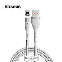 Магнитный кабель Lightning 2.4A для быстрой зарядки Baseus Zinc Magnetic Safe Fast Charging 1м (белый)