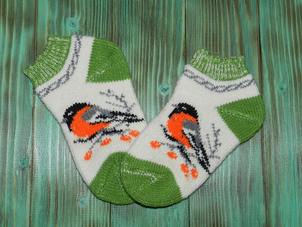 Укороченные носки из ангорской шерсти 22 см