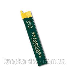 Грифель для механического карандаша Faber-Castell Super-Polymer НВ (0,3 / 0.35 мм), 12 штук в пенале, 120300
