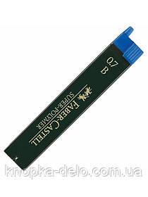 Грифель для механического карандаша Faber-Castell Super-Polymer В (0,7 мм), 12 штук в пенале, 120701