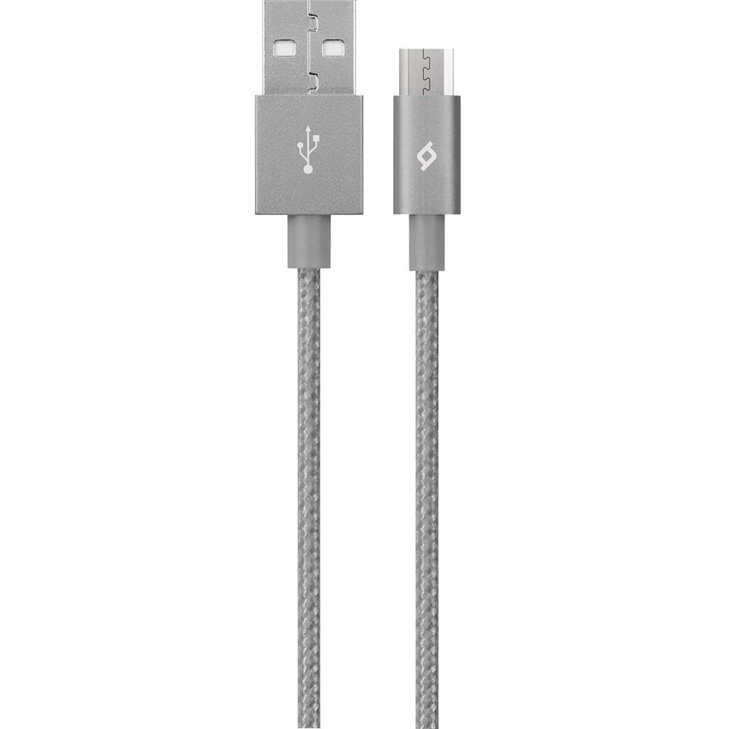 Кабель Ttec (2DK11UG) USB - мicroUSB AlumiCable, 1.2м, Space Gray
