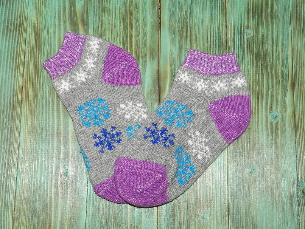 Укороченные носки из ангорской шерсти 25 см