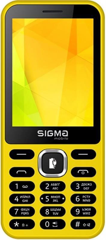 "Мобильный телефон Sigma mobile X-style 31 Power Dual Sim Yellow; 2.8"" (320х240) TN / клавиатурный моноблок /"