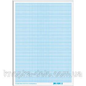 Бумага миллиметровая (масштабно-координатная) в картонной папке, формат А4 (линовка синяя), 10 листов