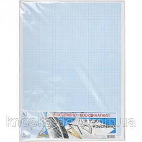 Бумага миллиметровая (масштабно-координатная) формат А3 (линовка синяя), 10 листов