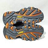 Зимние мужские спортивные ботинки из натуральной кожи теплые кроссовки на меху Черные, фото 8