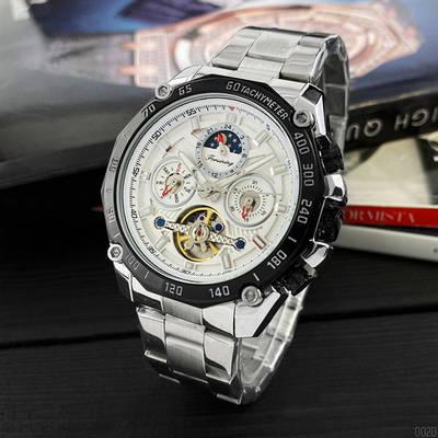 Наручные часы Forsining 6913 Silver-White-Black стильные, качествиные