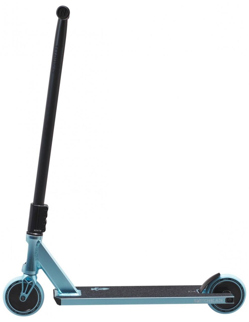 Трюковый самокат North Switchblade - Metallic Ice Blue & Matte Black