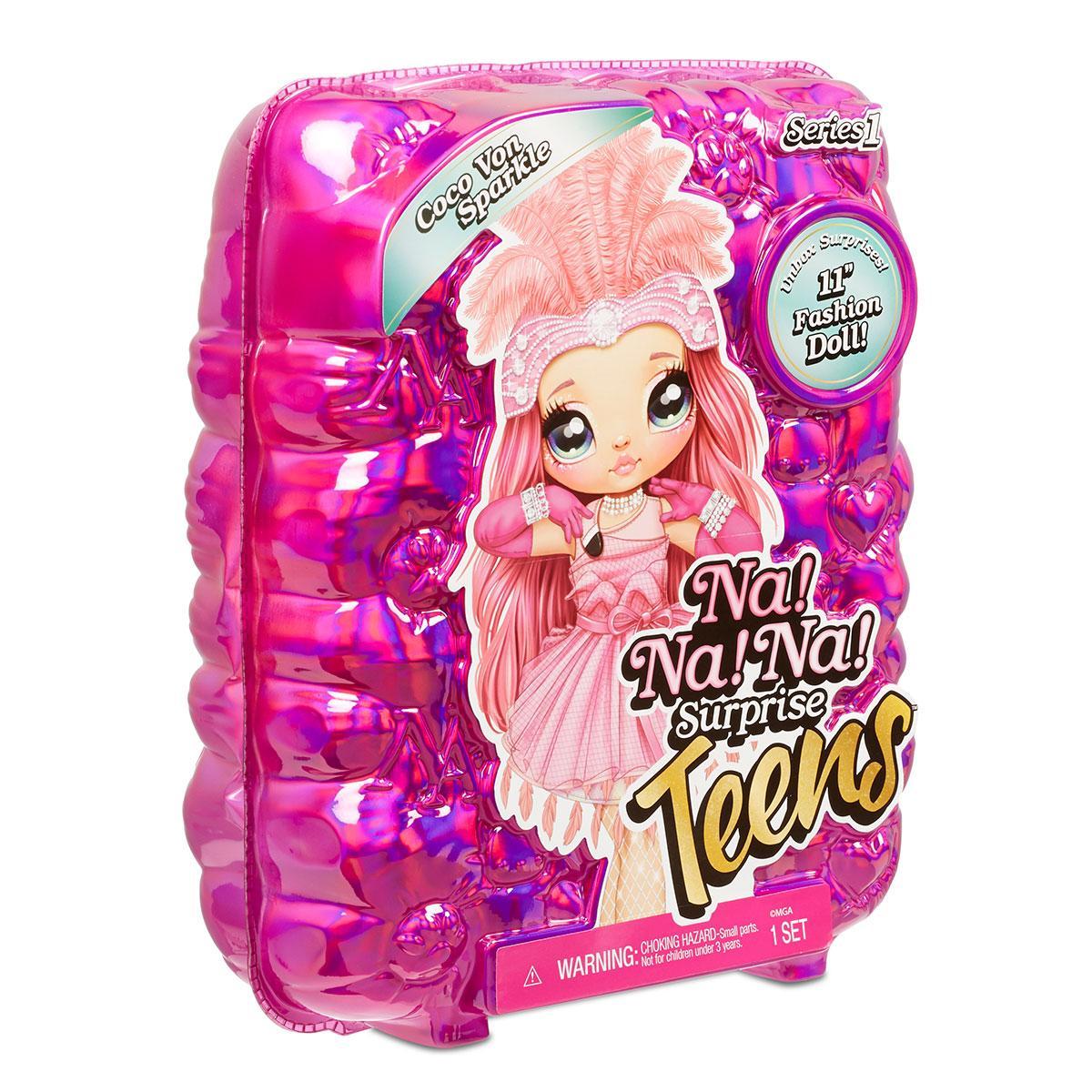 Оригинальная кукла Коко Фон Спаркл с аксессуарами Na! Na! Na! Surprise серии Teens (572596)