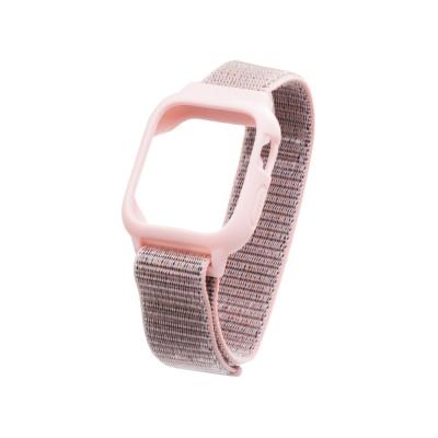 Ремешок для Apple Watch Nylon Loop 42 / 44mm Protect Case Цвет Розовый