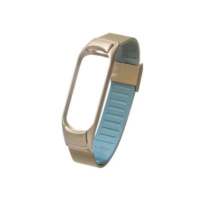 Ремешок для Xiaomi Mi Band 3 / 4 Milanese Loop Gradient Цвет 05. Голубо-Золотой