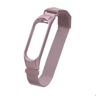 Ремешок для Xiaomi Mi Band 3 / 4 Milanese Loop Цвет Розовый