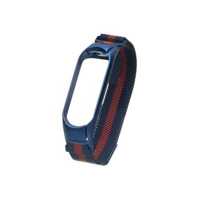 Ремешок для Xiaomi Mi Band 4 Milanese Loop Color Цвет Сине-Красный