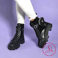 Жіночі чорні гріндерси з оригінальним гаманцем