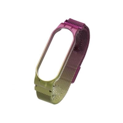 Ремешок для Xiaomi Mi Band 5 Milanese Loop Gradient Цвет 33, Фиолетово-Зелёный
