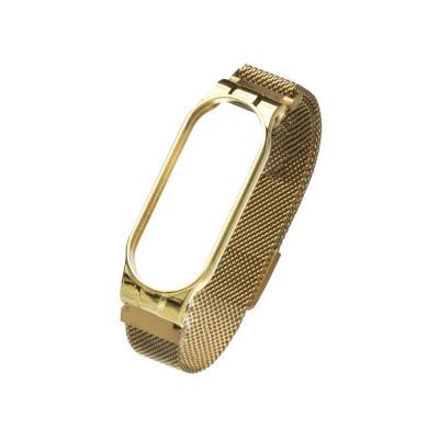 Ремешок для Xiaomi Mi Band 5 Milanese Loop Цвет Золотой