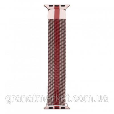 Ремешок для Apple Watch Milanese loop 42 / 44mm Line Цвет Розово-Красный