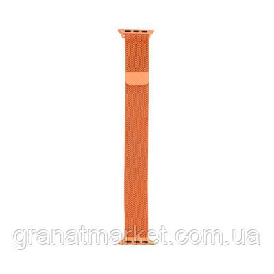 Ремешок для Apple Watch Milanese loop 42 / 44mm Цвет Оранжевый
