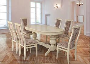 Обеденный комплект: Овальный стол Лео и стулья Марэк 1 Марко™