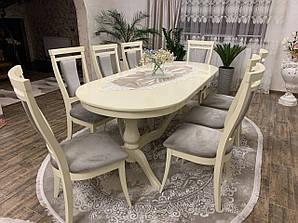 Обеденный комплект: Стол овальный Эдельвейс + стулья Маркиз Марко™