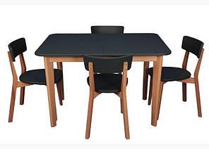 Обеденный комплект: Стол Локи (бук+7024) + стулья Локи Марко™