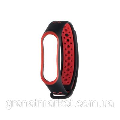 Ремешок для Xiaomi Mi Band 3 / 4 Nike Цвет Чёрно-Красный