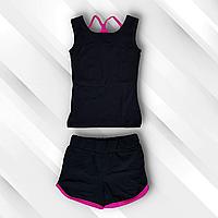 Детский спортивный комплект майка и шорты для гимнастики, хореографии и танцев.