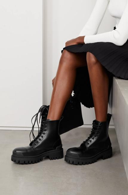 Женские ботинки Balenciaga Strike в стиле баленсиага Страйк Черные (Реплика ААА+)