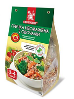 Каша гречана несмажена з овочами, Сто Пудов, 232г