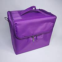 """Сумка для майстра текстильна """"Б'юті кейс"""" рожевий"""