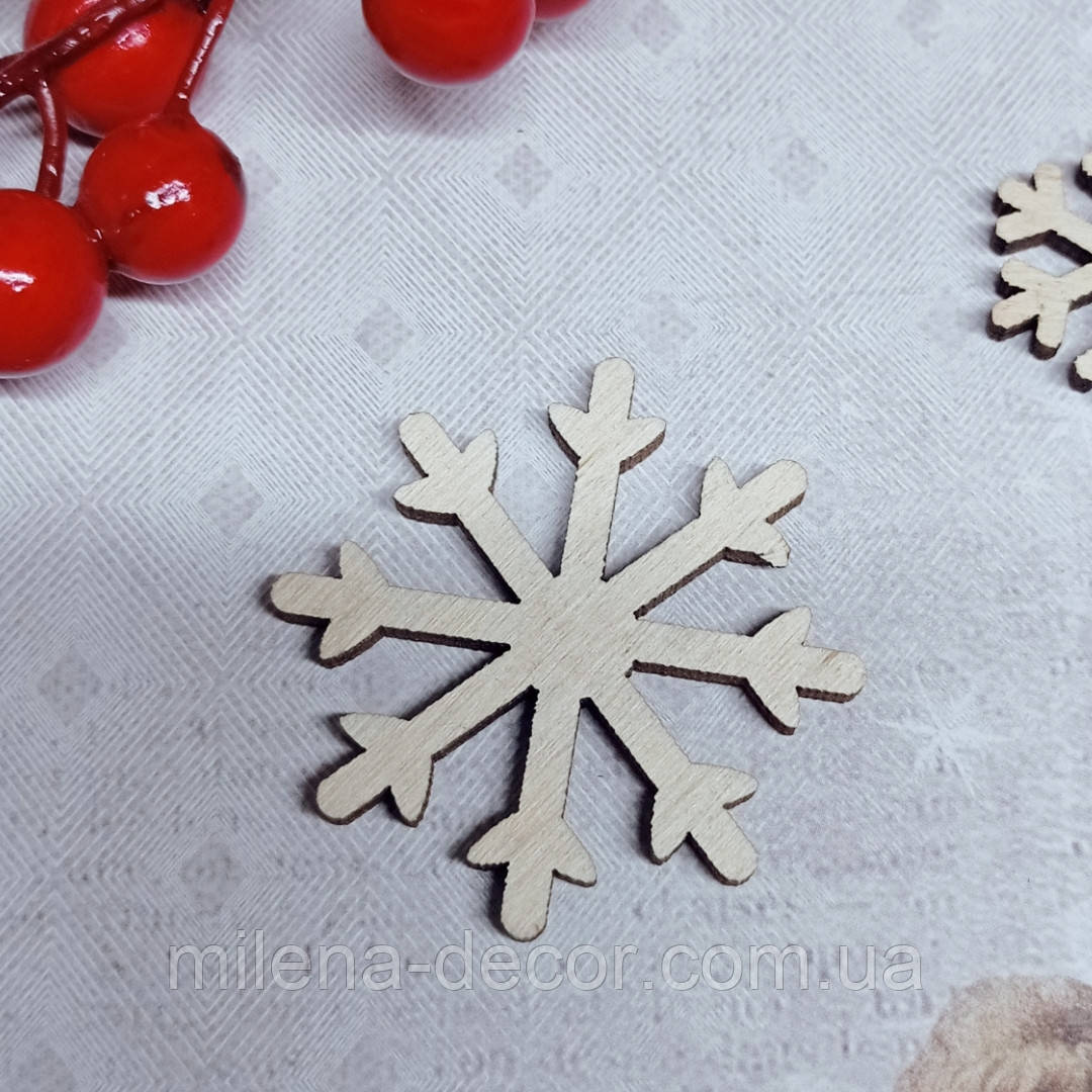 """Фігурка новорічна """"сніжинка"""" 5см (фанера 4мм)"""