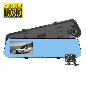 Видеорегистратор автомобильный с камерой заднего вида, 1080p, зеркало