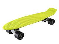 Скейт детский Фламинго //ЗЕЛ.ЦВЕТ// в п/э/скейтборд прозрач,свет.PVC колеса(0151/5)