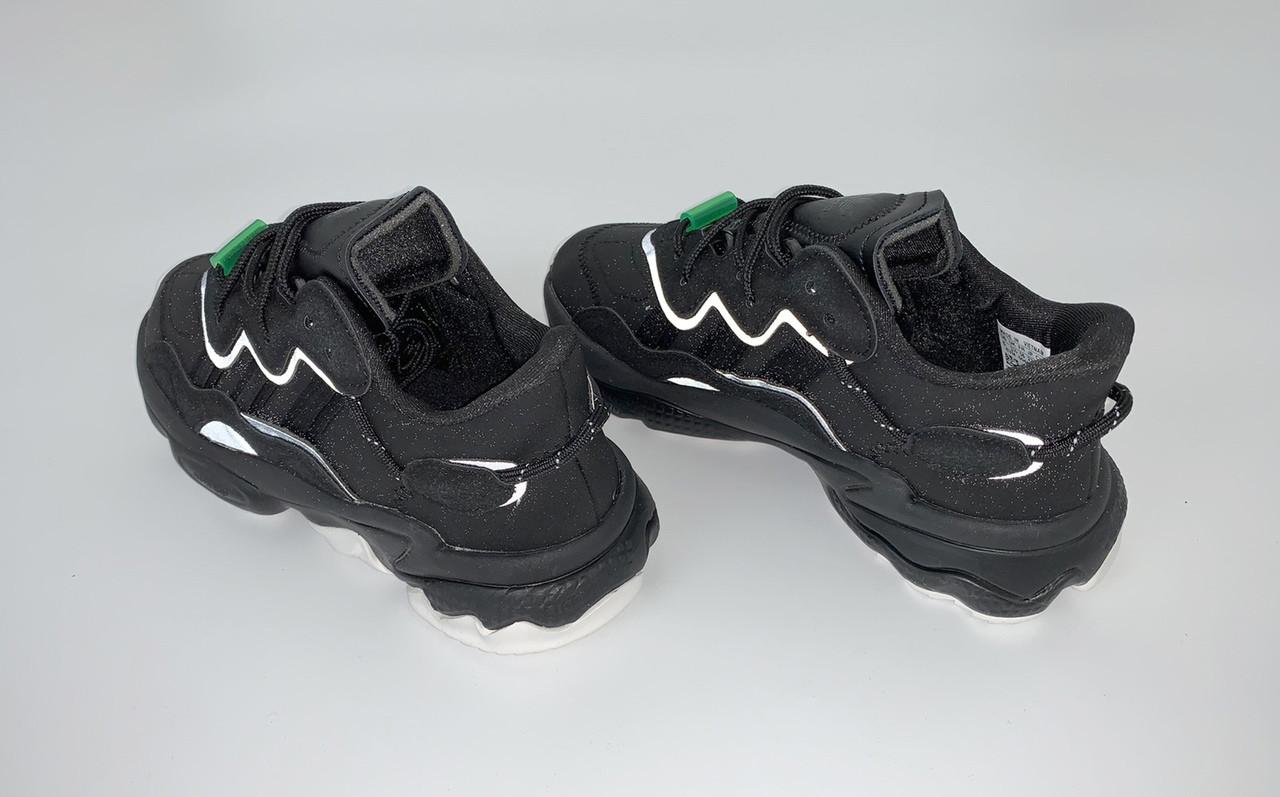 Мужские кроссовки Adidas Ozweego в стиле Адидас Озвиго ЧЕРНЫЕ (Реплика ААА+)