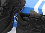 Чоловічі кросівки Adidas Ozweego в стилі Адідас Озвиго ЧОРНІ (Репліка ААА+), фото 7