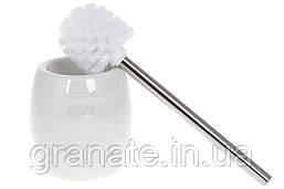 Ершик для унитаза с подставкой 14 см, цвет - белый перламутр