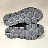 Зимние мужские ботинки из натуральной кожи теплые кроссовки на меху Черные, фото 8