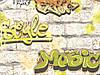 Обои дуплекс Граффити 7169-02 салатовый