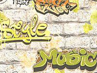Обои дуплекс Граффити 7169-02 салатовый, фото 1
