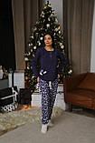 Женская теплая домашняя пижама с милыми принтами, фото 6