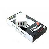 Сетевое зарядное устройство UKC 4758 Fast Charge AR 001 c 3 USB портами, фото 5