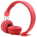 Беспроводные Bluetooth Наушники с MP3 плеером NIA-X2 Радио блютуз Красные, фото 2