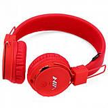 Беспроводные Bluetooth Наушники с MP3 плеером NIA-X2 Радио блютуз Красные, фото 3