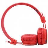 Беспроводные Bluetooth Наушники с MP3 плеером NIA-X2 Радио блютуз Красные, фото 5