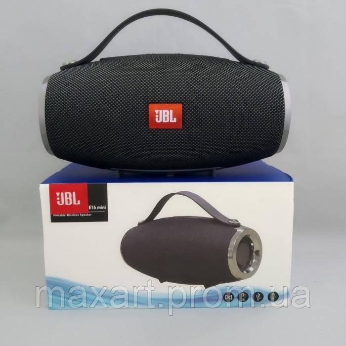 Портативная bluetooth колонка спикер JBL E16 mini FM, MP3, радио Тёмно-Серая