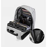 Рюкзак АНТИВОР Bobby c защитой от карманников и с USB зарядным устройством Серый, фото 3