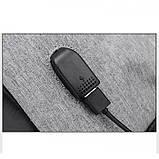 Рюкзак АНТИВОР Bobby c защитой от карманников и с USB зарядным устройством Серый, фото 4