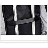 Рюкзак АНТИВОР Bobby c защитой от карманников и с USB зарядным устройством Серый, фото 6